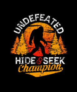 Bigfoot T-shirt Undefeated Hide & Seek Sasquatch Yeti Gift T-Shirt
