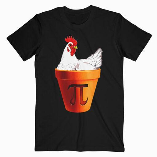 Chicken Pot PI Day Gift Men Women Kids Math T-Shirt
