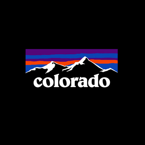 Colorado Mountains Outdoor Flag Design MCMA T-Shirt