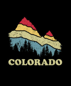 Colorado Retro Vintage Mountains Nature Hiking T Shirt