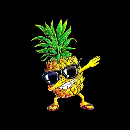 Dabbing Pineapple Sunglasses Aloha Beaches Hawaii T-Shirt