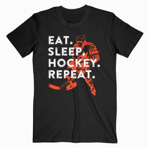 Eat Sleep Hockey Repeat Gift T-Shirt
