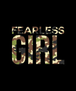 Fearless Girl I Camo Cute Camouflage Lover T-Shirt