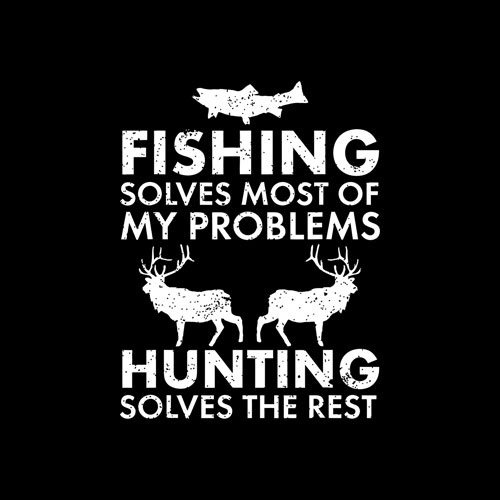 Funny Fishing And Hunting Gift Christmas Humor Hunter Cool T-Shirt