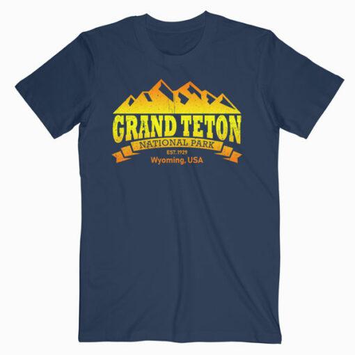 Grand Teton National Park Retro T-Shirt