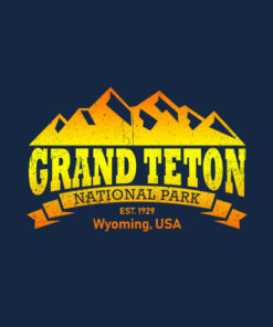 Grand Teton National Park Retro T-Shirt