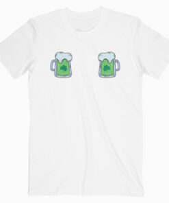 Green Beer Mug and Boobs St Patricks Day Drinking T Shirt
