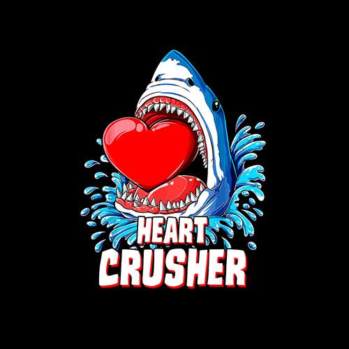 Heart Crusher Valentines Day Shark Boys Jawsome Gift T Shirt