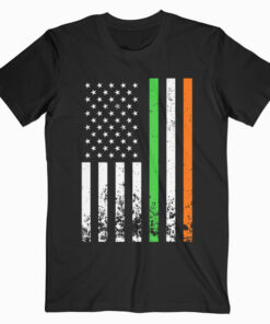 Irish American Flag Ireland Flag ST PATRICKS DAY Gift T-Shirt