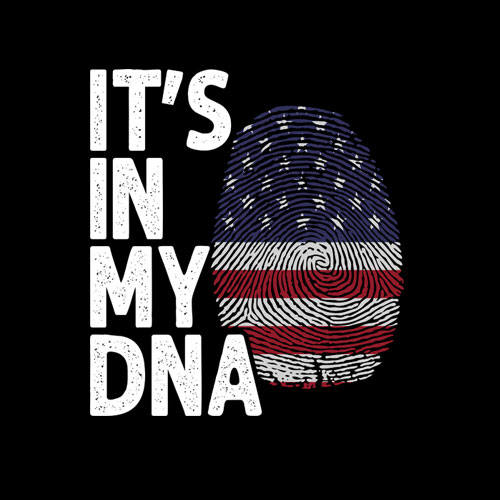 It's In My DNA American Flag T-Shirt Amerika US Geschenk Tee T-Shirt