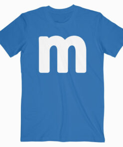 Letter M Shirt Lower Case Alphabet Matching Halloween Tee