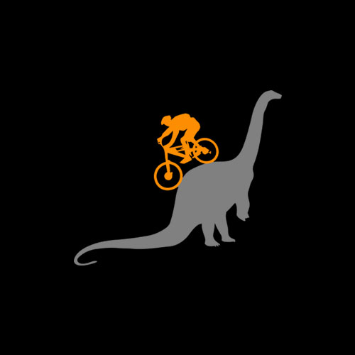 MTB Dinosaur Dino Bike Mountain Bicycle Sport T-Shirt