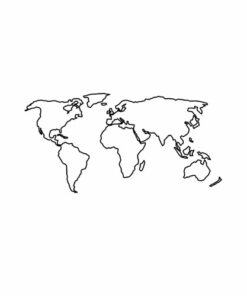 Minimalist World Map Line Art Graphic Tees
