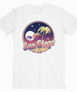 San Diego California CA intage 70s Retro Surfer T Shirt