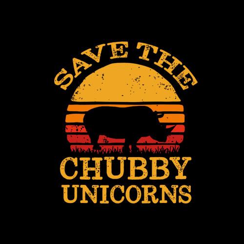 Save The Chubby Unicorns Vintage T-Shirt