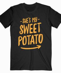 She's My Sweet Potato I YAM Couple's Matching T-Shirt
