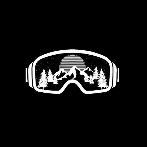 Ski Snowboard Goggles Skiing Snow Mountain Winter Gift T-Shirt