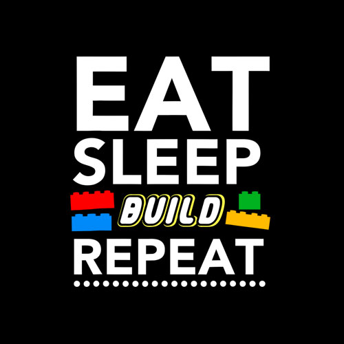 Sleep Eat Build Repeat Building Blocks Bricks Master Builder T-Shirt