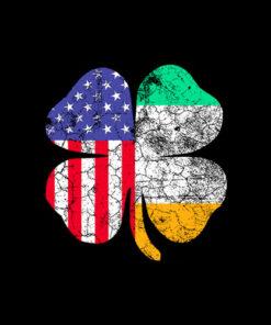 St. Patrick's Day Irish American Flag Shamrock Gift T-Shirt