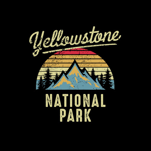 Vintage Retro Yellowstone National Park T-Shirt