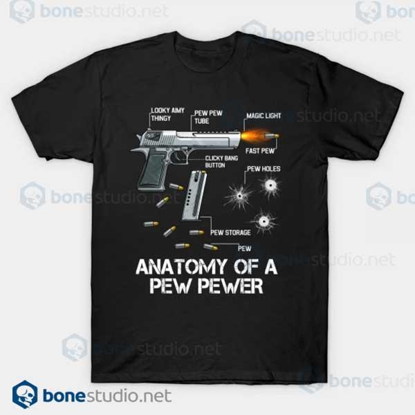 Anatomy Of A Pew Pewer Ammo Gun Amendment Meme Lovers Black T Shirt