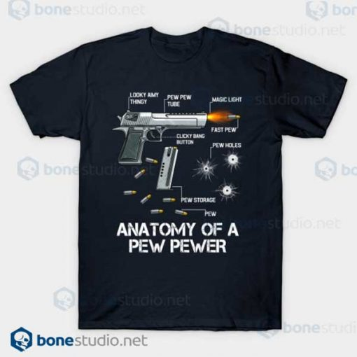 Anatomy Of A Pew Pewer Ammo Gun Amendment Meme Lovers Navy T Shirt