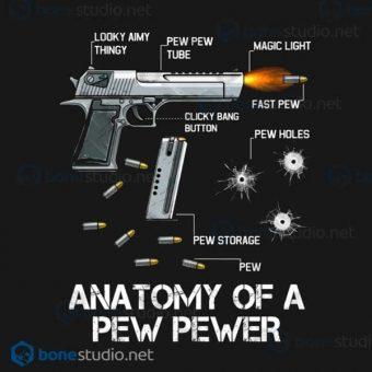 Anatomy Of A Pew Pewer Ammo Gun Amendment Meme Lovers T Shirt