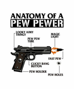 Anatomy Of A Pew Pewer Ammo Gun Amendment Meme Lovers T Shirt