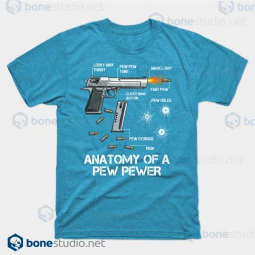 Anatomy Of A Pew Pewer Ammo Gun Amendment Meme Lovers Turquoise HeatherT Shirt