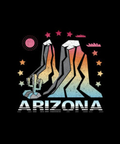 Arizona Retro Vintage Mountains Hiking T Shirt