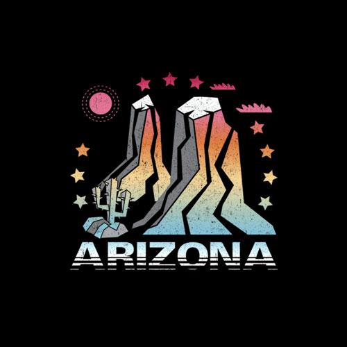 Arizona Retro Vintage Mountains Hiking T Shirt