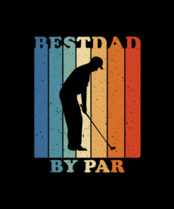 Best Dad By Par Disc Golf Dad T-Shirt