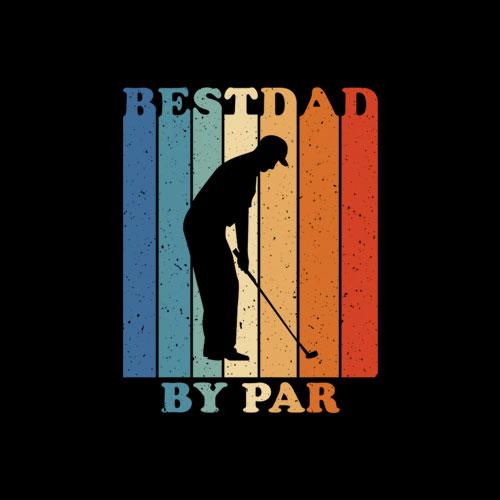 Best Dad By Par Disc Golf Dad T-Shirt