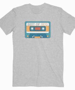 Best Of 1970 50th Birthday Gifts Cassette Tape Vintage T-Shirt