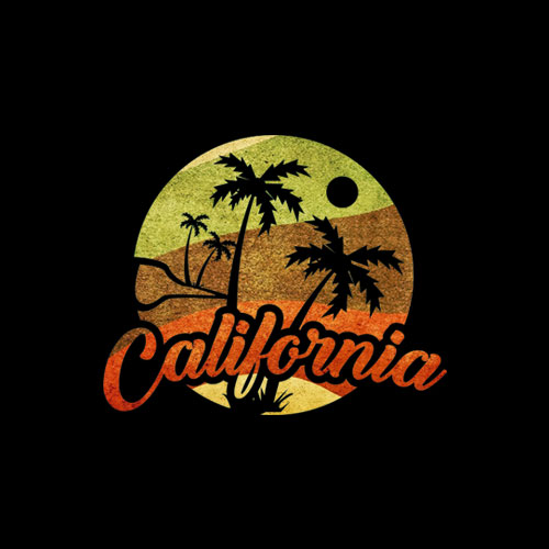 California Retro Surf Vintage Surfer Surfing Distressed T Shirt display