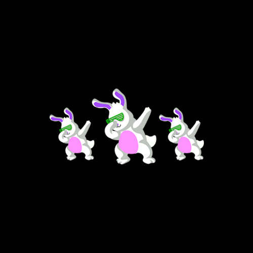 Cool Dabbing Bunny Hip Hop Easter Gifts For Boys Girls T-Shirt