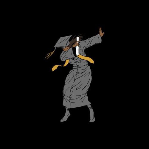 Dabbing Graduation Class Of 2020 Gift Woman Black Graduation T-Shirt