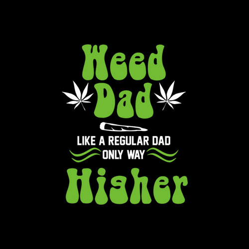 Dad Weed Marijuana Cannabis Gifts Men Fathers Day Premium T-Shirt