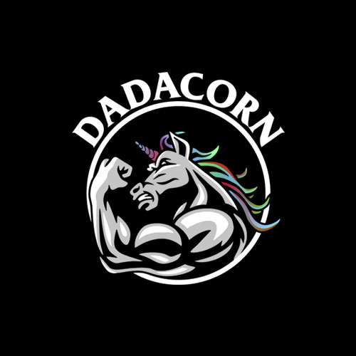 Dadacorn Unicorn Muscle Dad T Shirt