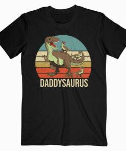 Daddy Dinosaur Daddysaurus 3 three Kids xmas christmas Gift T Shirt