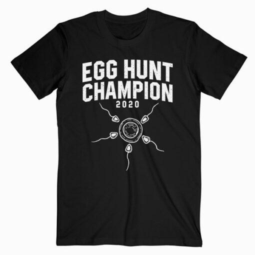 Egg Hunt Champion 2020 Funny Easter Pregnancy Reveal Men Dad T-Shirt