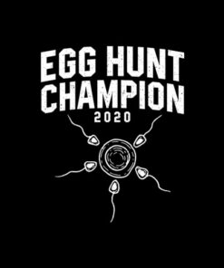 Egg Hunt Champion 2020 Funny Easter Pregnancy Reveal Men Dad T-Shirt