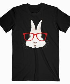 Funny Rabbit Hipster Bunny Geek Nerd Women Girls T-Shirt