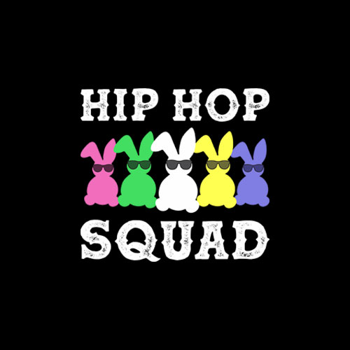 Hip Hop Squad Funny Easter Bunny Boys Girls Kids Gift T-Shirt
