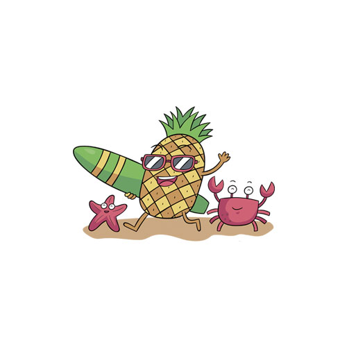 Pineapple Sunglasses T Shirt