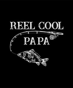 Vintage Reel Cool Papa Novelty Father Gift Shirt