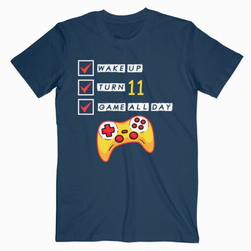 11th Birthday Gamer Level 11 Unlocked Gamer Birthday T Shirt