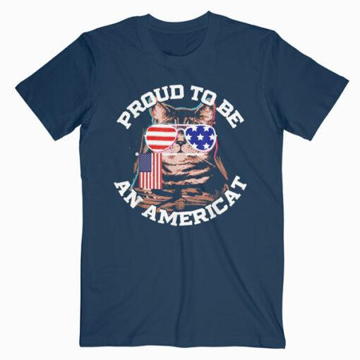 4th of July Cat Shirt T-Shirt