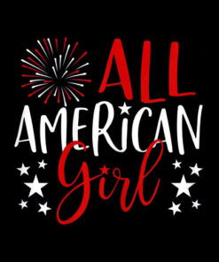 4th of July Family Matching Shirts All-American Girl Tshirt