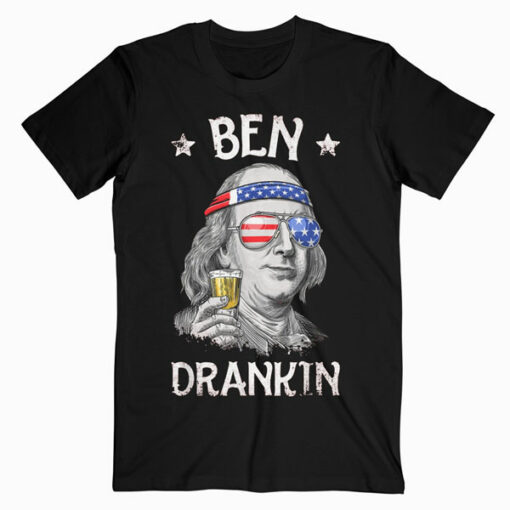 4th of July Shirts for Men Ben Drankin Benjamin Franklin Tee